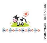 Cute Cow Dairy Cartoon Vector...
