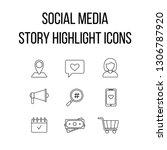 social media story highlight... | Shutterstock .eps vector #1306787920