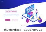 online shopping   modern... | Shutterstock .eps vector #1306789723