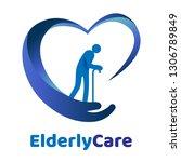 elderly healthcare heart shaped ... | Shutterstock .eps vector #1306789849