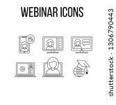 webinar or online training set... | Shutterstock .eps vector #1306790443