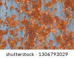 rusty textured metal background.... | Shutterstock . vector #1306793029