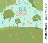 hello spring illustration...   Shutterstock .eps vector #1306793470