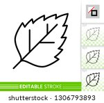 leaf birch or poplar thin line... | Shutterstock .eps vector #1306793893