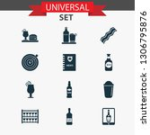 drink icons set with scotch ... | Shutterstock .eps vector #1306795876
