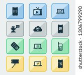 communication icons set with... | Shutterstock .eps vector #1306799290