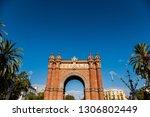 triumphal arch of barcelona ... | Shutterstock . vector #1306802449