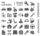 car parts glyph icon set ... | Shutterstock .eps vector #1306804510
