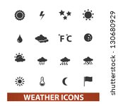 weather icons set  vector | Shutterstock .eps vector #130680929