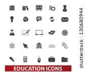 education icons set  vector   Shutterstock .eps vector #130680944