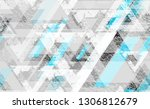 tech geometric camouflage... | Shutterstock .eps vector #1306812679