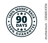 90 days money guarantee back... | Shutterstock .eps vector #1306814356
