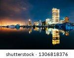 Twilight Skyline Of Manila Bay  ...