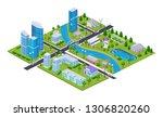 realistic 3d isometry of big... | Shutterstock .eps vector #1306820260