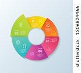 timeline infographic.business... | Shutterstock .eps vector #1306824466