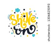 shine on. bright colored... | Shutterstock .eps vector #1306825093
