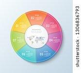 timeline infographic.business... | Shutterstock .eps vector #1306836793