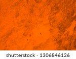 old orange wall background | Shutterstock . vector #1306846126