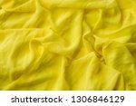 smooth elegant golden silk ... | Shutterstock . vector #1306846129