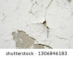 peeling painted wall background. | Shutterstock . vector #1306846183