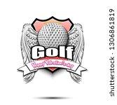 Happy Valentine Day. Golf Logo...