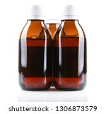 cough syrup isolated on white... | Shutterstock . vector #1306873579