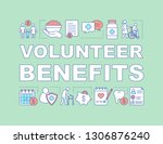 volunteering benefits word...