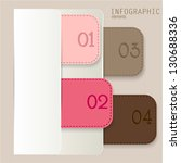 set of bookmarks  stickers ... | Shutterstock .eps vector #130688336
