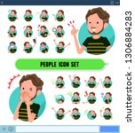 a set of middle aged man in... | Shutterstock .eps vector #1306884283
