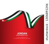 jordan independence day vector... | Shutterstock .eps vector #1306891246