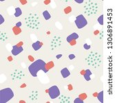 seamless pattern with abstract... | Shutterstock .eps vector #1306891453