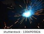 welding of metal structures... | Shutterstock . vector #1306905826