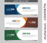 banner vector template... | Shutterstock .eps vector #1306908796