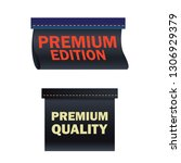 fabric tag premium edition and... | Shutterstock .eps vector #1306929379