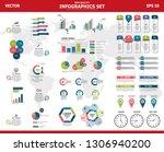 infographic vector mega set.... | Shutterstock .eps vector #1306940200