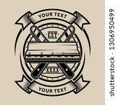 vector design logo screen... | Shutterstock .eps vector #1306950499
