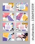 super sale colorful collage... | Shutterstock .eps vector #1306953559