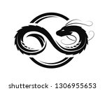 dragon in the form of infinity  ... | Shutterstock . vector #1306955653
