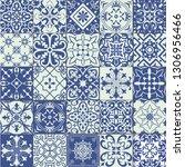 big vector set of tiles in... | Shutterstock .eps vector #1306956466
