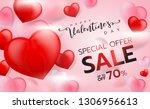 valentine's day sale background ...   Shutterstock .eps vector #1306956613