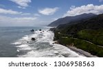 great coastline in greymouth... | Shutterstock . vector #1306958563