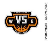 basketball  vs sports logo... | Shutterstock . vector #1306960930