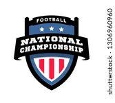 football nationl championship... | Shutterstock . vector #1306960960