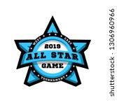 all star game. sport emblem ... | Shutterstock . vector #1306960966
