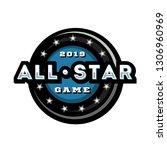 all star game  template logo... | Shutterstock . vector #1306960969