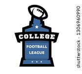 american football  college... | Shutterstock . vector #1306960990