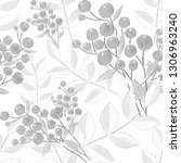 seamless pattern with hand...   Shutterstock . vector #1306963240