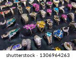colourful rings in the... | Shutterstock . vector #1306964263