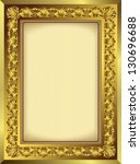 gold picture frame | Shutterstock .eps vector #130696688