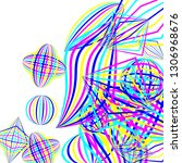 falling geometric figures.... | Shutterstock .eps vector #1306968676